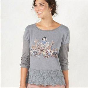 LC Lauren Conrad Disney Snow White Graphic Sweater